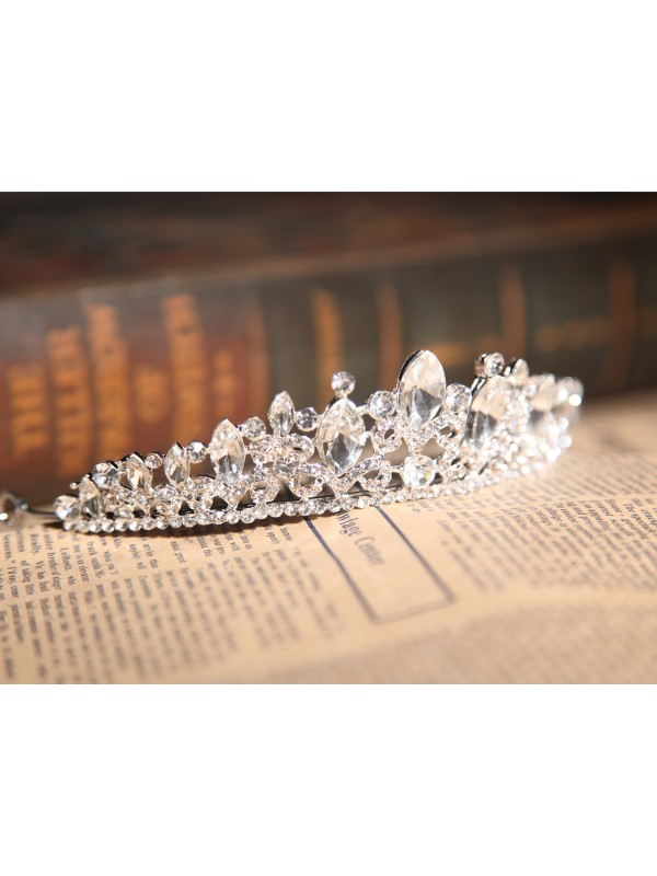 Charming Alloy Clear Crystals Wedding Headpieces
