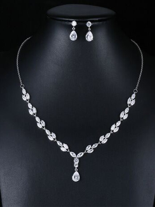 Occident Fashion Zircon Wedding Bridal Jewelry Set