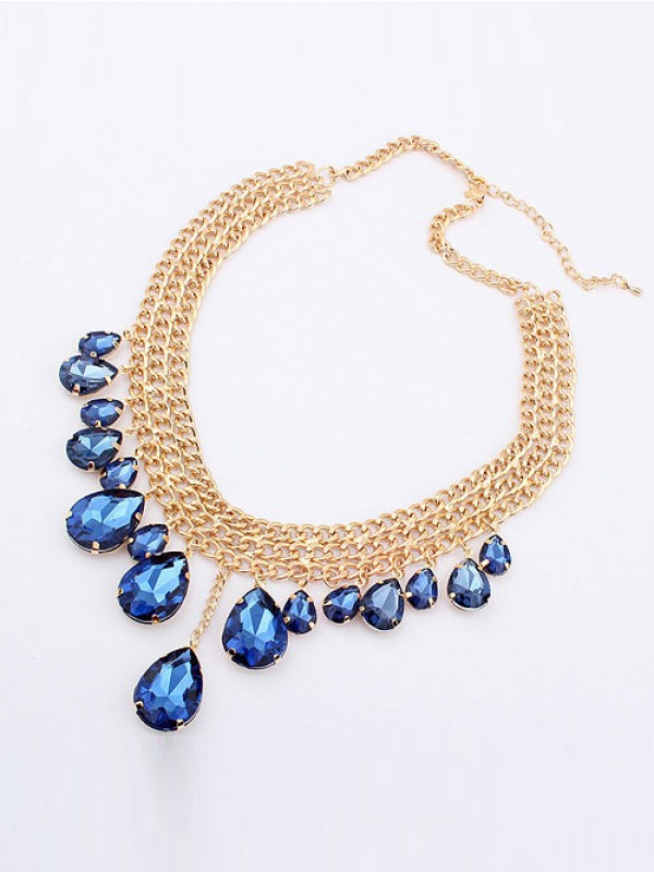 Occident Hyperbolic Stylish Metallic Mashup style New Water Drop Hot Sale Necklace
