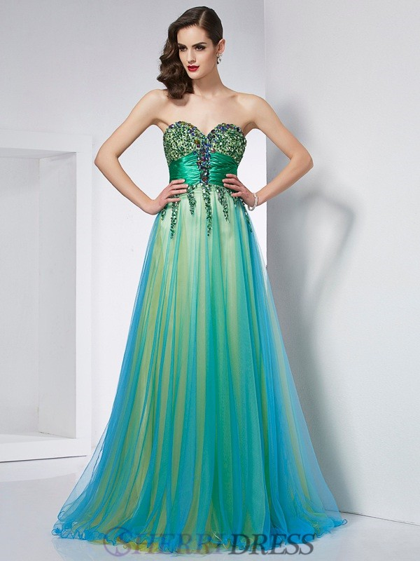 Ball Gown Sweetheart Elastic Woven Satin Sleeveless Sweep/Brush Train Dresses