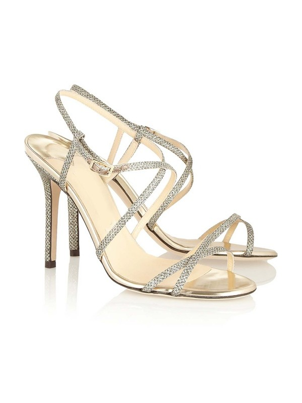 Women's Peep Toe Stiletto Heel With Buckle Sandals Shoes
